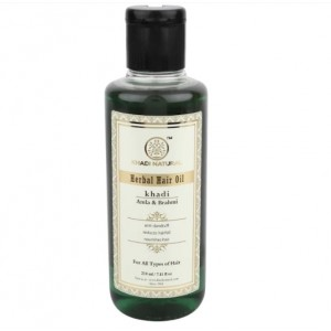 Buy Khadi Natural Amla & Brahmi Herbal Hair Oil - Nykaa