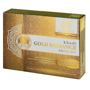 Buy Khadi Natural Gold Radiance Facial Kit - Nykaa