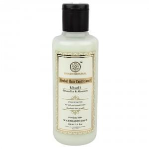 Buy Khadi Natural Green Tea & Aloevera Herbal Hair Conditioner - SLS & Paraben Free - Nykaa