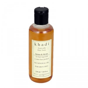 Buy Khadi Natural Thyme Henna Hair Tonic (Hair Regrowth Tonic. A Water Based Product) - Nykaa