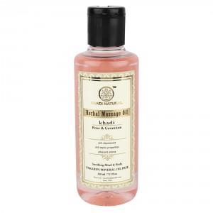 Buy Khadi Natural Rose & Geranium Herbal Massage Oil Paraben Free - Nykaa