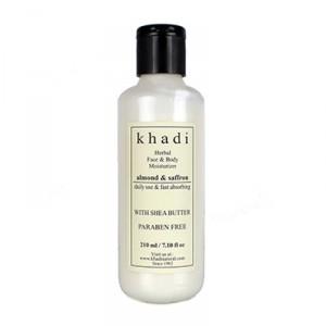Buy Khadi Natural Almond Saffron Moisturizers - Nykaa