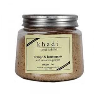 Buy Herbal Khadi Natural Orange Lemongrass With Cinnamon Powder Bath Salt - Nykaa