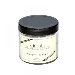 Buy Khadi Natural Apricot & Walnut Cream Scrub With Rose - Nykaa