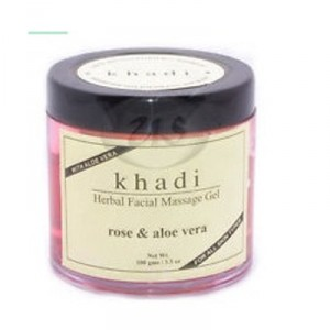 Buy Khadi Natural Rose & Aloe Vera Herbal Face Massage Gel - Nykaa