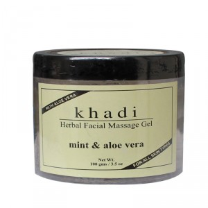 Buy Khadi Natural Facial Massage Gel Mint & Aloe Vera - Nykaa