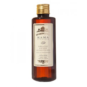 Buy Herbal Kama Ayurveda Organic Sweet Almond Oil - Nykaa