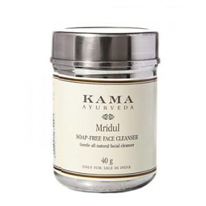 Buy Herbal Kama Ayurveda Mridul Soap Free Face Cleanser - Nykaa