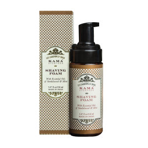 Buy Kama Ayurveda Shaving Foam With Essential Oils Of Sandalwood & Mint - Nykaa