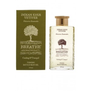 Buy Breathe Aromatherapy Indian Khus (Vetiver) Bath And Skin Oil - Nykaa
