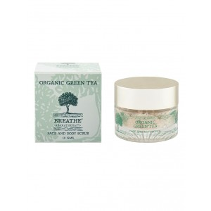 Buy Breathe Aromatherapy Organic Green Tea Face & Body Scrub - Nykaa