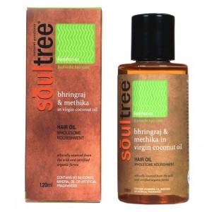 Buy SoulTree Bhringraj & Methika in Virgin Coconut Oil - Nykaa