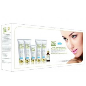 Buy Richfeel Skin Logix Anti-Ageing Facial Kit with Swiss Apple Stem Cells (Set of 6) - Nykaa