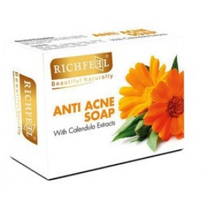 Buy Richfeel Anti Acne Soap With Calendula Extracts (Pack Of 3 ) - Nykaa