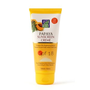 Buy Astaberry Papaya Sunblock Creme - SPF 18 (100ml)(10% Extra) - Nykaa