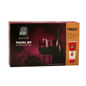 Buy Astaberry Wine Facial Mini Kit + Astaberry Skin Fruit Face Wash Rs.55 (Free) - Nykaa