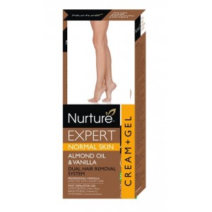 Buy Nurture Expert Almond Oil & Vanilla Oil Hair Removal Cream + Gel - Normal Skin - Nykaa