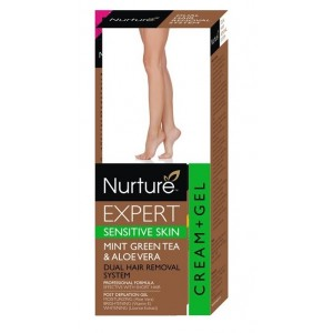 Buy Nurture Expert Mint Green Tea & AloeVera Hair Removal Cream + Gel - Sensitive Skin - Nykaa