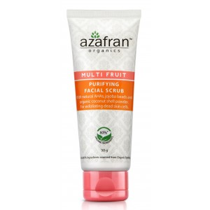 Buy Azafran Organics Multi Fruit Purifying Facial Scrub - Nykaa