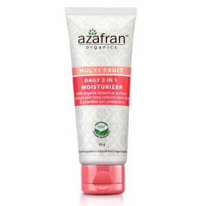 Buy Azafran Organics Multi Fruit Daily 3 In 1 Moisturizer - Nykaa