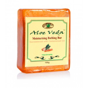 Buy Herbal Aloe Veda Moisturising Bathing Bar - Sandalwood With Cedarwood Oil - Nykaa