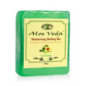 Buy Aloe Veda  Moisturising Bathing Bar - Avocado With Cucumber Gel - Nykaa