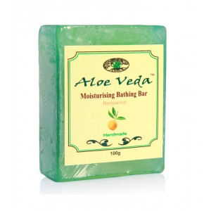 Buy Aloe Veda  Moisturising Bathing Bar - Bergamot Oil - Nykaa