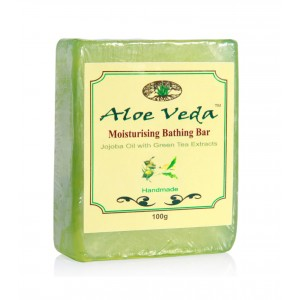 Buy Aloe Veda  Moisturising Bathing Bar - Jojoba Oil with Green Tea Extracts - Nykaa