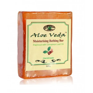 Buy Aloe Veda  Moisturising Bathing Bar - Patchouli with Cinnamon Leaf Oil - Nykaa