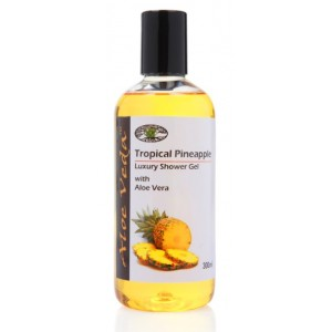 Buy Aloe Veda  Tropical Pineapple Luxury Shower Gel - Nykaa