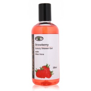 Buy Aloe Veda  Strawberry Luxury Shower Gel - Nykaa