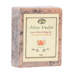 Buy Aloe Veda Luxury Butter Bar - Oats & Honey Soap with Milk - Nykaa