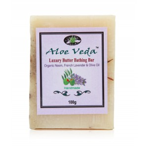 Buy Herbal Aloe Veda Luxury Butter Bar - Neem & French Lavender with Olive Oil - Nykaa