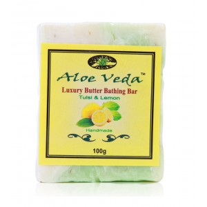 Buy Aloe Veda  Luxury Butter Bar - Tulsi & Lemon - Nykaa