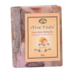 Buy Aloe Veda  Luxury Butter Bar - Chocolate & Coffee Scrub Soap - Nykaa