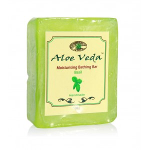 Buy Aloe Veda  Moisturising Bathing Bar - Basil - Nykaa