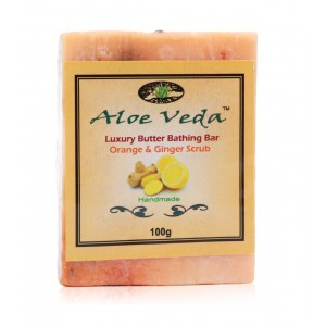 Buy Aloe Veda  Luxury Butter Bar - Orange & Ginger - Nykaa