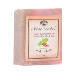 Buy Aloe Veda  Luxury Butter Bathing Bar - Cinnamon & Fresh Mint - Nykaa
