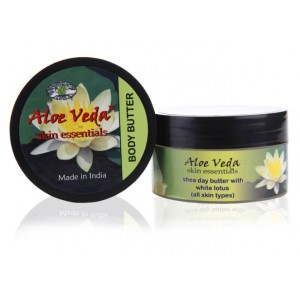 Buy Aloe Veda Sklin Essential  Luxury Body Butter - White Lotus - Nykaa