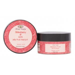 Buy Aloe Veda Strawberry & Lichi Jelly Fruit Masque - Nykaa