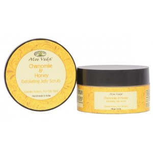 Buy Aloe Veda  Chamomile  & Honey Exfoliating Jelly Scrub - Nykaa