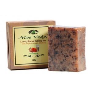 Buy Aloe Veda  Luxury Butter Bathing Bar - Oats, Organic Honey & Milk Soap - Nykaa