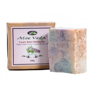 Buy Aloe Veda Luxury Butter Bathing Bar - Neem, French Lavender & Olive Oil - Nykaa