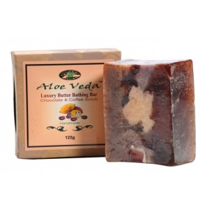Buy Aloe Veda  Luxury Butter Bathing Bar - Chocolate & Coffee Scrub  - Nykaa