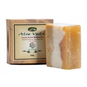 Buy Aloe Veda  Luxury Butter Bathing Bar - Multani Mitti & Tea Tree Oil - Nykaa