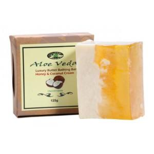 Buy Aloe Veda  Luxury Butter Bathing Bar - Honey & Coconut Cream - Nykaa