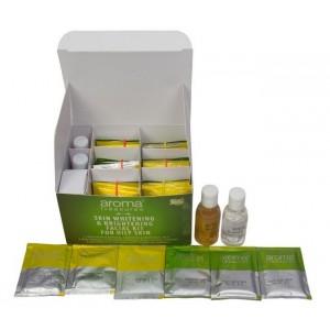 Buy Aroma Treasure Skin Whitening & Brightening Facial Kit For Oily Skin + Free Argan Liquid Gold Hair Spa - Nykaa