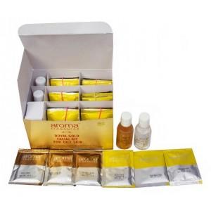 Buy Aroma Treasures Royal Gold Facial Kit For Oily Skin + Free Argan Liquid Gold Hair Spa - Nykaa