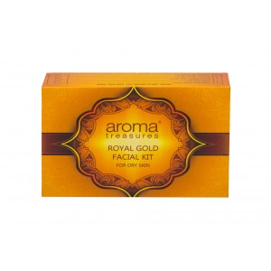 Buy Aroma Treasure Royal Gold Facial Kit For Dry Skin - Single Time - Nykaa