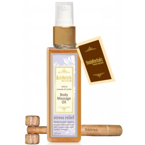 Buy BodyHerbals Natural Lavender Vanilla Body Massage Oil - Nykaa